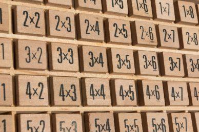 Bojagi Multiplication Puzzles