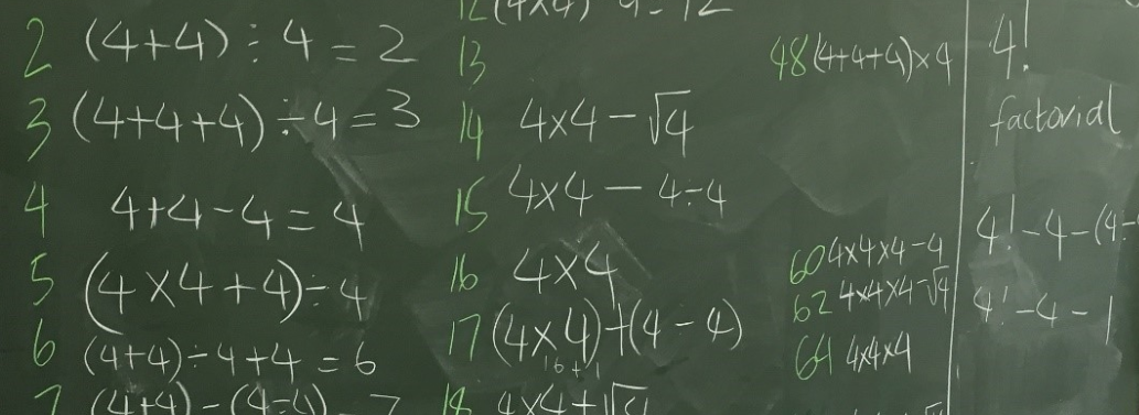 Four Fours (Order of operations) - Calculate