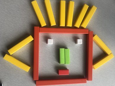 100 Face (Cuisenaire Rods)